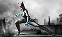 batman arkham city armored edition catwoman suit vignette head